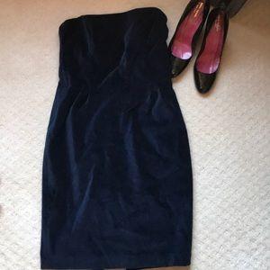 NWT Club Monaco Navy Blue Velvet Dress Size 6!